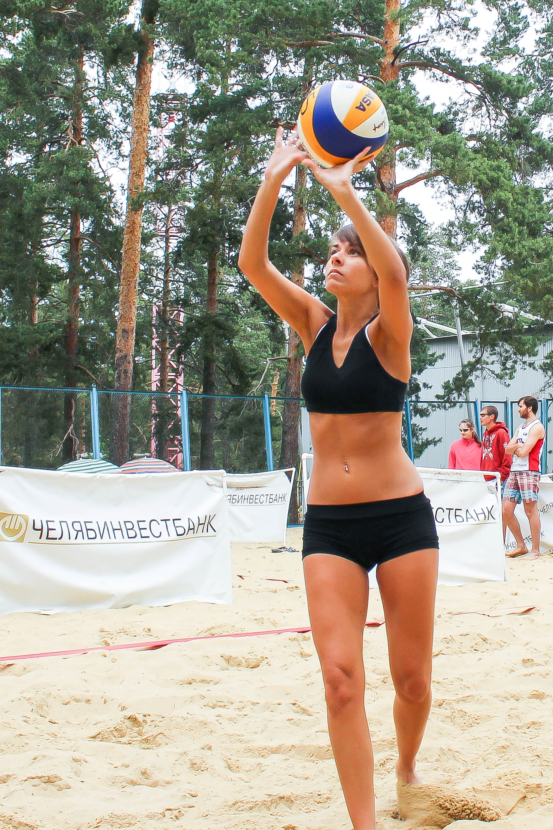Пляжный волейбол за памятником Курчатову (26.06.2015)