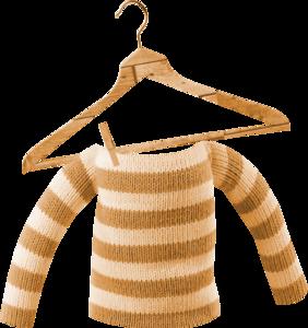 свитер на вешалке