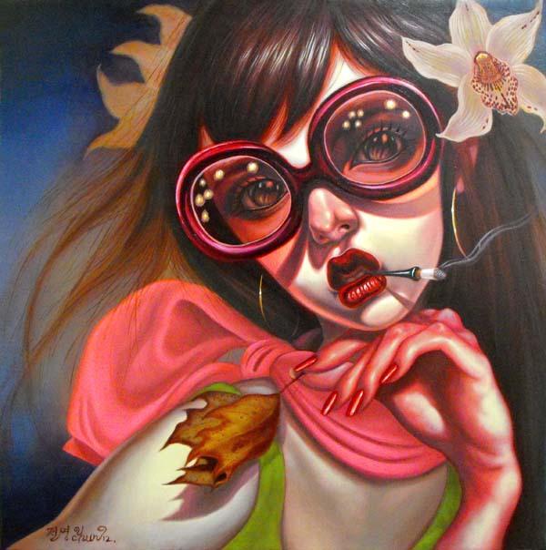 Губастенькие девочки, картины Йонг Чуна