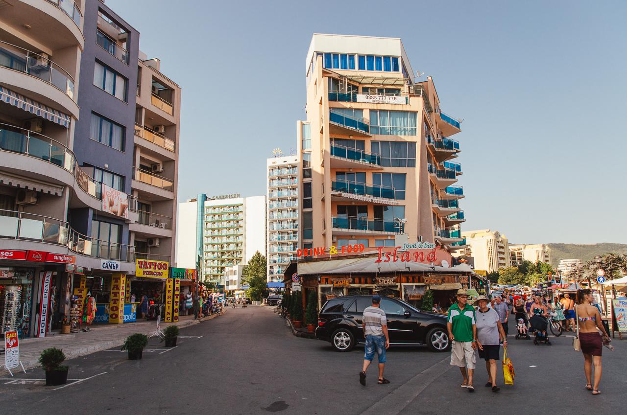 Набережная Солнечный Берег, Болгария