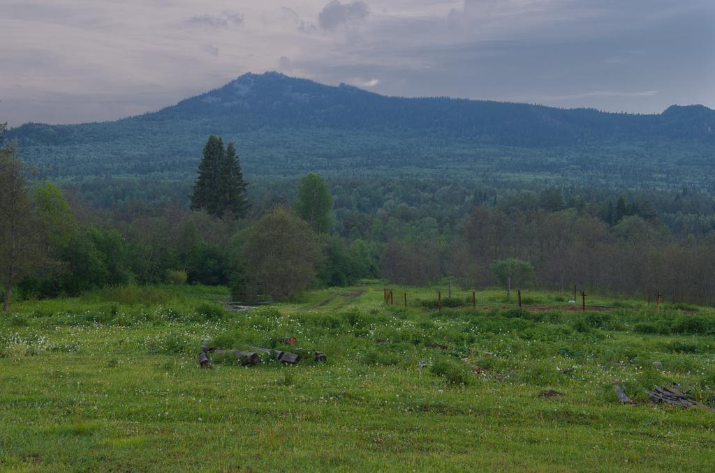 11. Лесовозная дорога приведет вас к вершине горы Малиновая. Вид из поселка Отнурок Белорецкого района