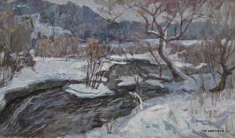 Сергей Петрович Катков картины зимний пейзаж