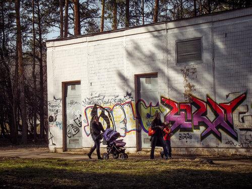 Вписываясь в граффити