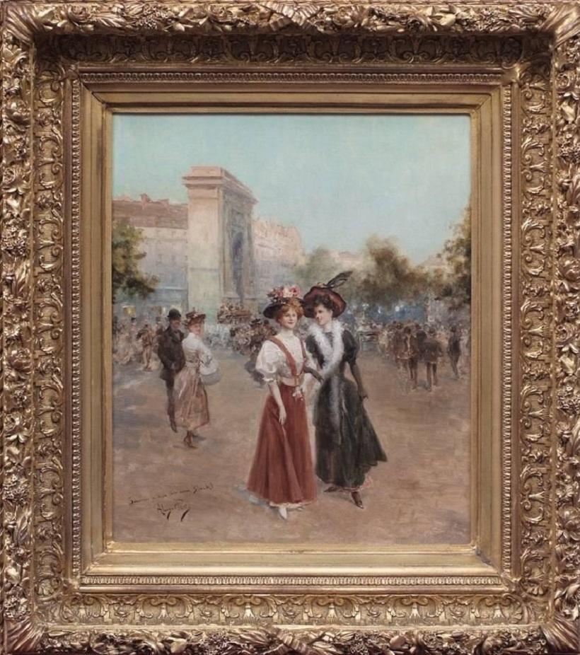 Elégantes à la Porte St Denis.