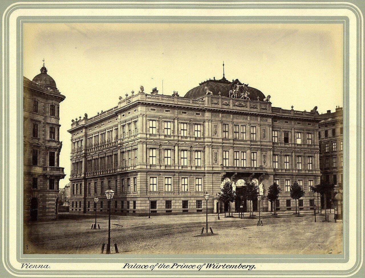 Вена. Дворец князя Филиппа Вюртембергского. 1865