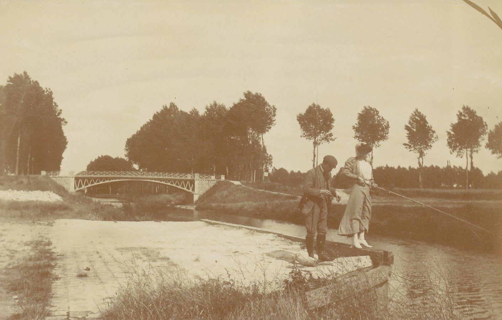 Эсбли. Рыбаки на канале