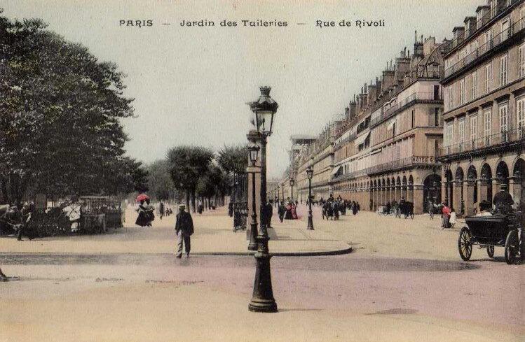 Сад Тюильри в 1900 году