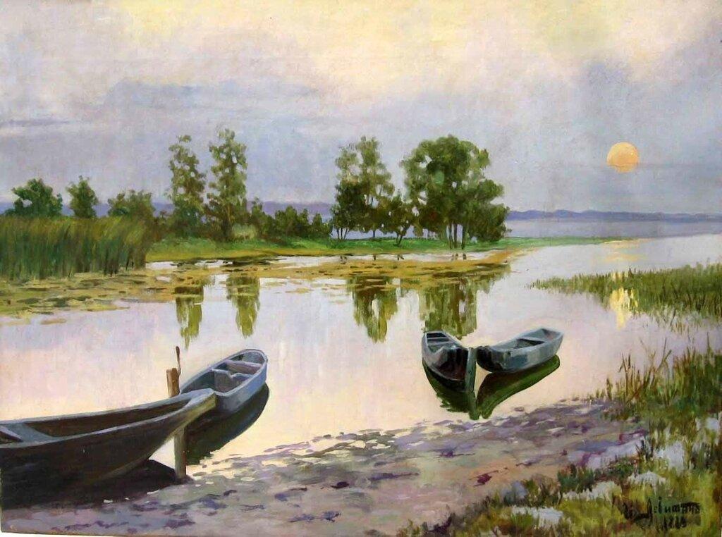 «Белая ночь»1880г. Левитан Исаак Ильич.