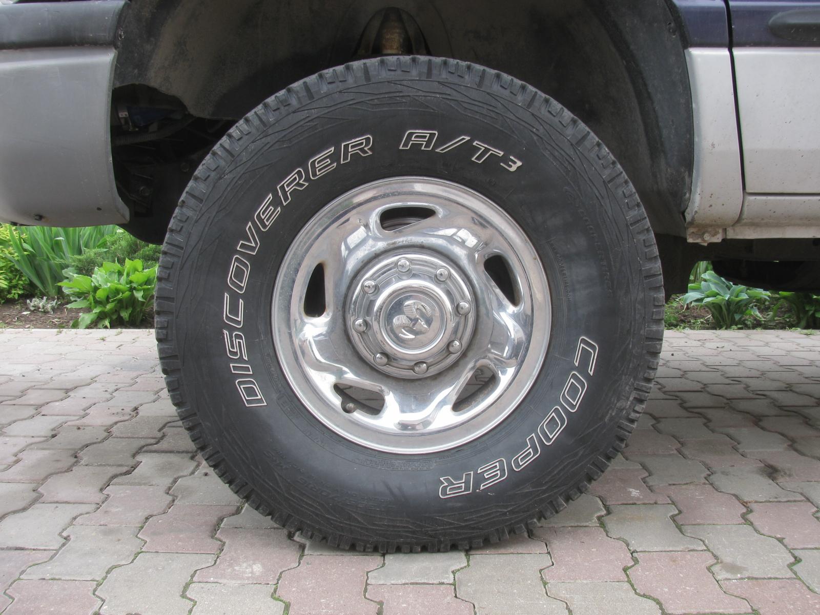 никель, последние колеса купер 265 75 размер 16 нужно тратить