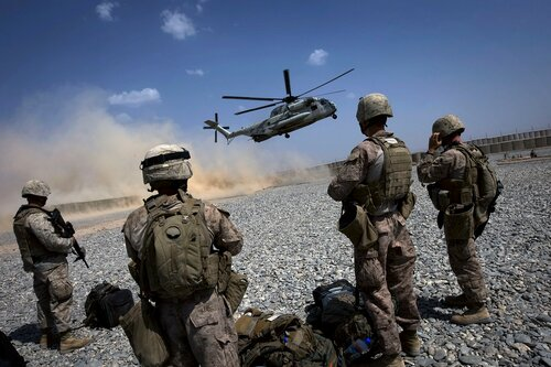 AFGHANISTAN-US-UNREST-MARINES
