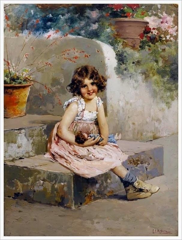 Vincenzo Irolli  (1860-1945) Two dolls