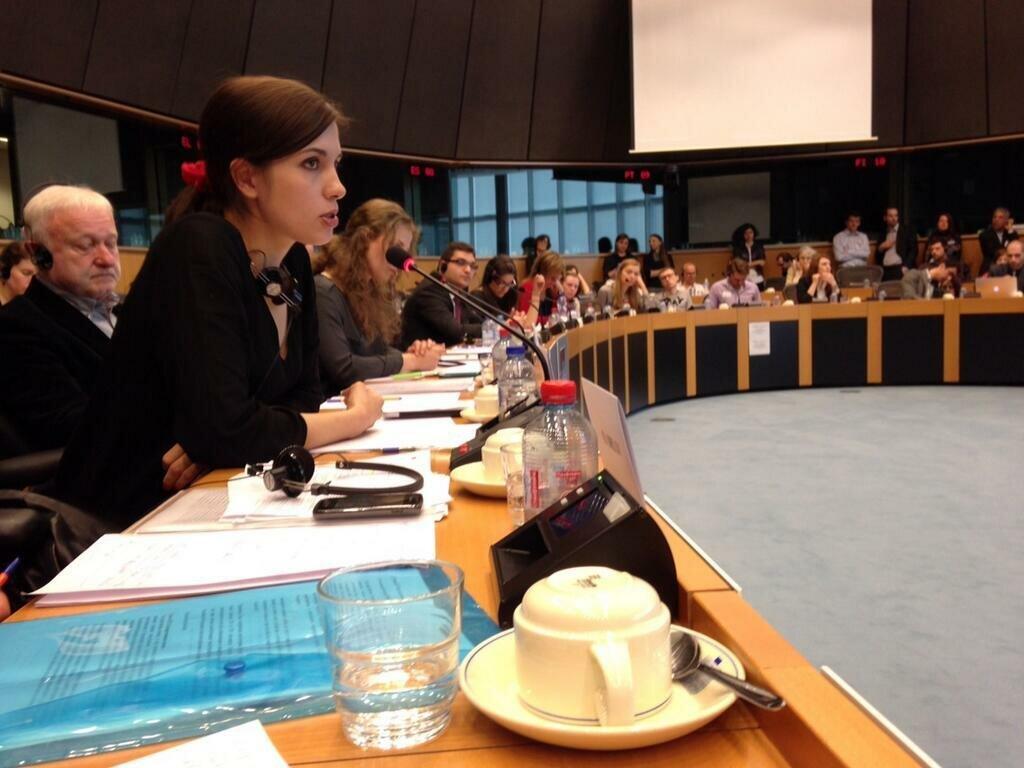 Толоконникова в Европарламенте