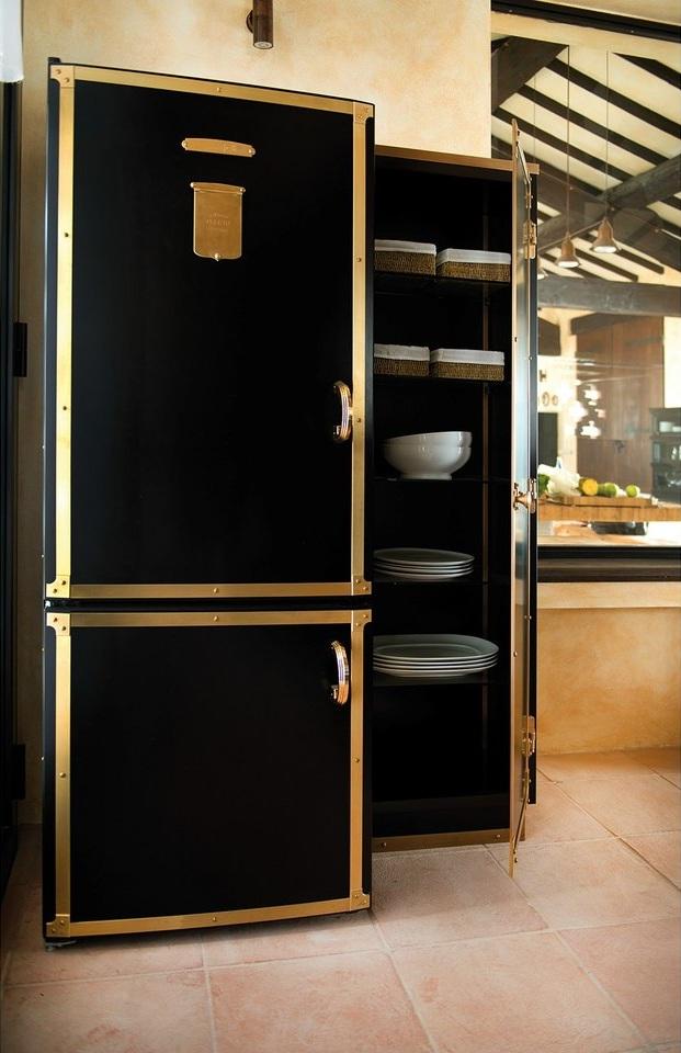 холодильники с кованым оформлением ретро-стиль классика, кованые холодильники