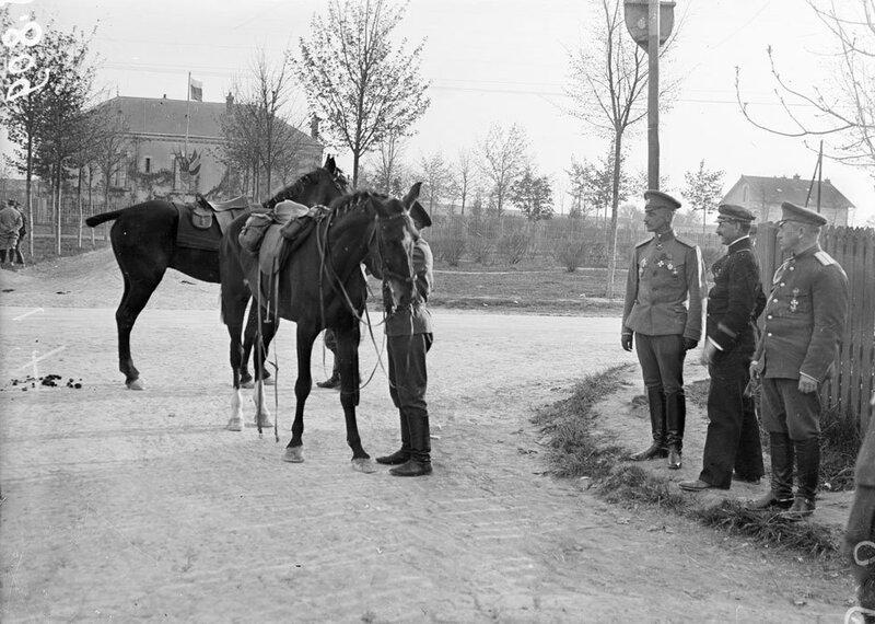 Le front de Champagne fin avril début mai 1916 et la présence de troupes russes au camp de Mailly dans l'Aube.