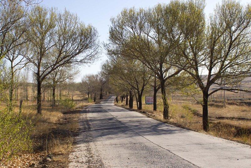 бетонированная дорога во внутренней монголии, китай