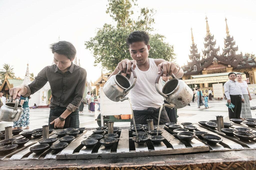 Бирма. Прогулки поЯнгону иступаШведагон– часть1