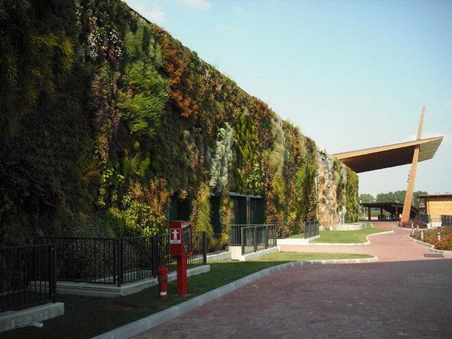Вертикальный сад в Россано. Италия
