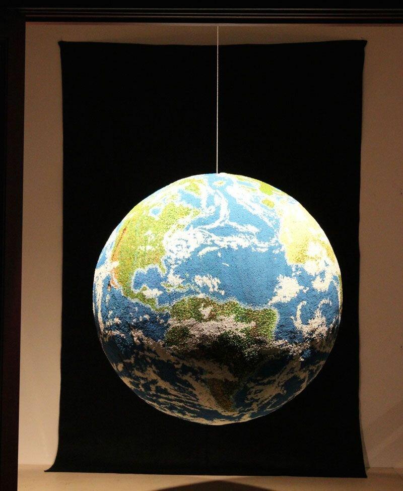 земной шар из спичек