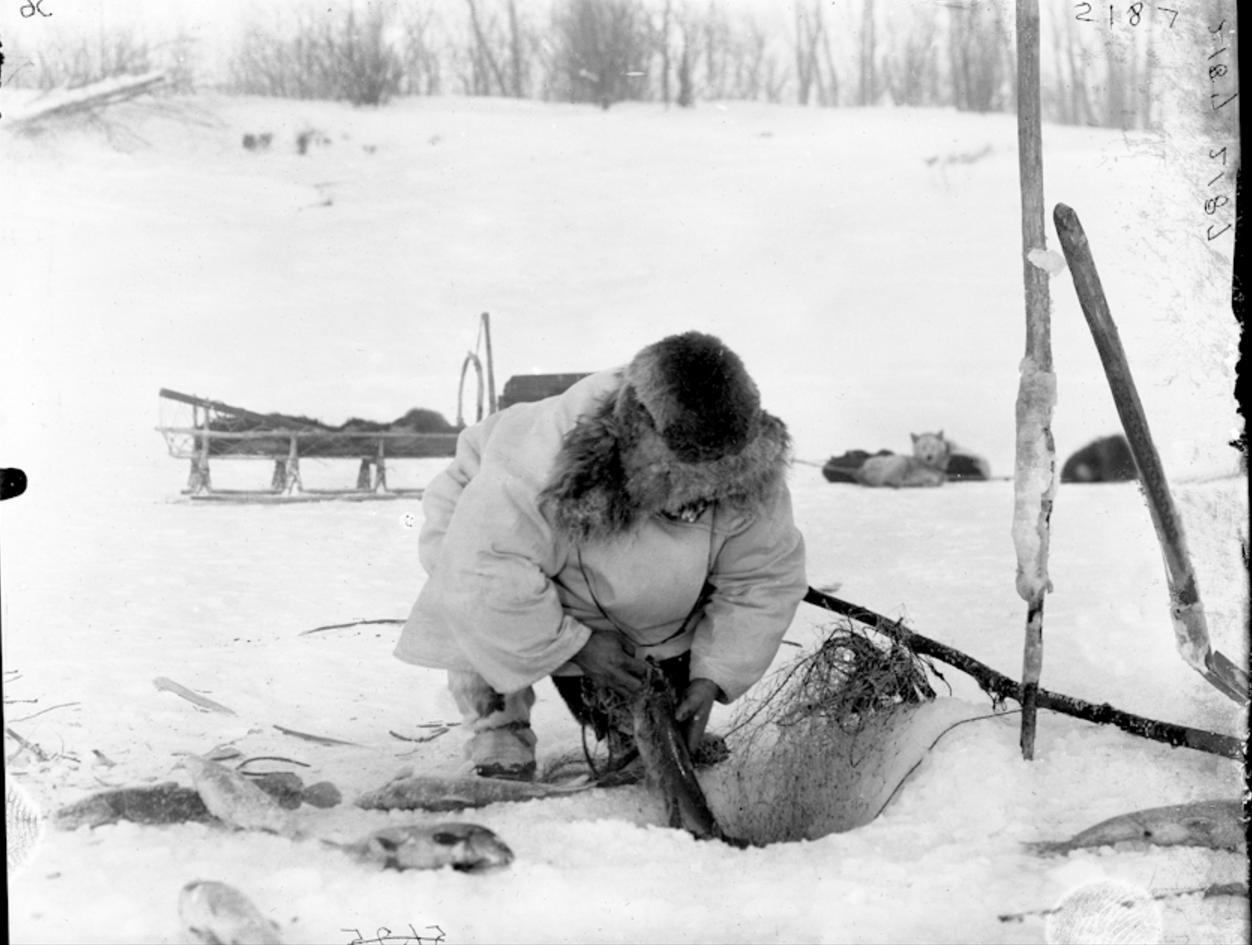 Зимняя рыбалка сетью