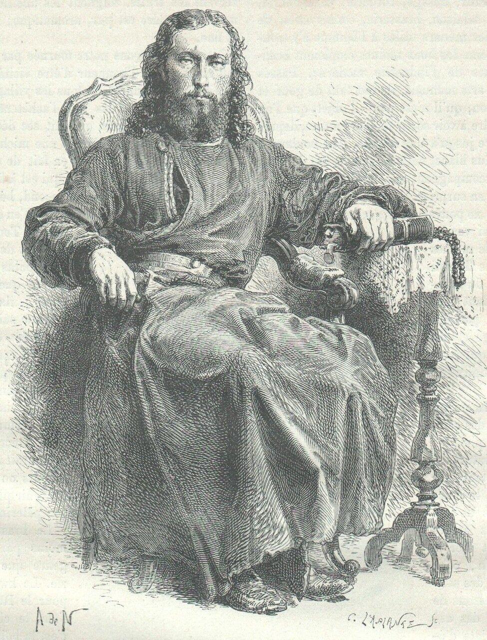 1872. Монах из Соловецкого монастыря