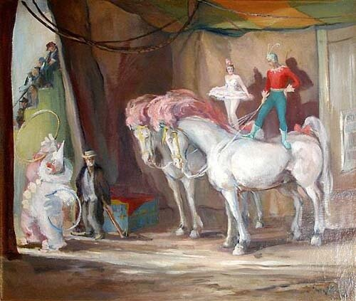 Лошади и цирк в искусстве