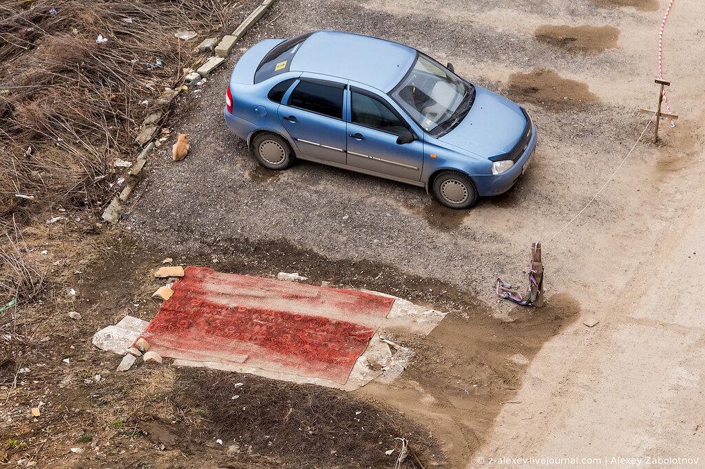 Самодельные парковки в Чебоксарах