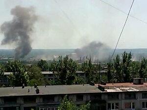 В Славянске разбомблена гостиница с журналистами