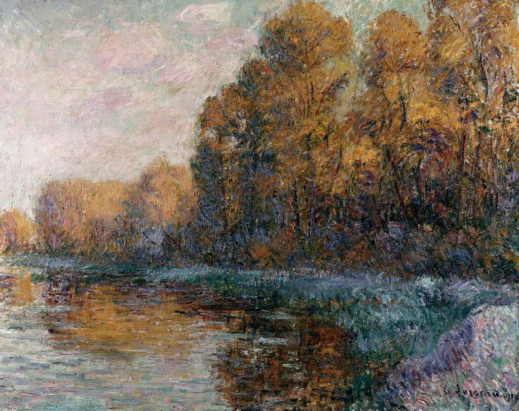River In Autumn. Riviere En Automne. Gustave Loiseau (1865-1935). Oil On Canvas, 1909.