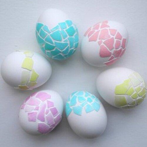 Мозаичные пасхальные яйца