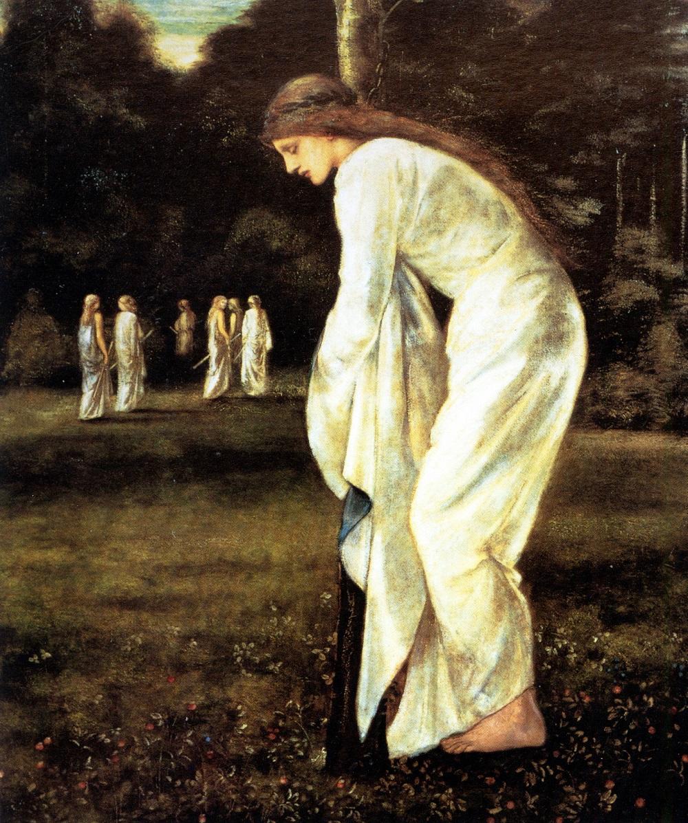 Принцесса, привязанная к дереву. Эдвард Берн-Джонс (Edward Burne-Jones) (1833-1898)  .jpg