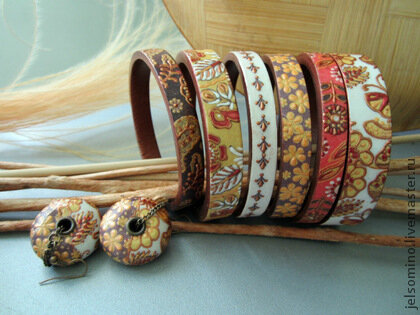 Комплект украшений - Солнечные цветы