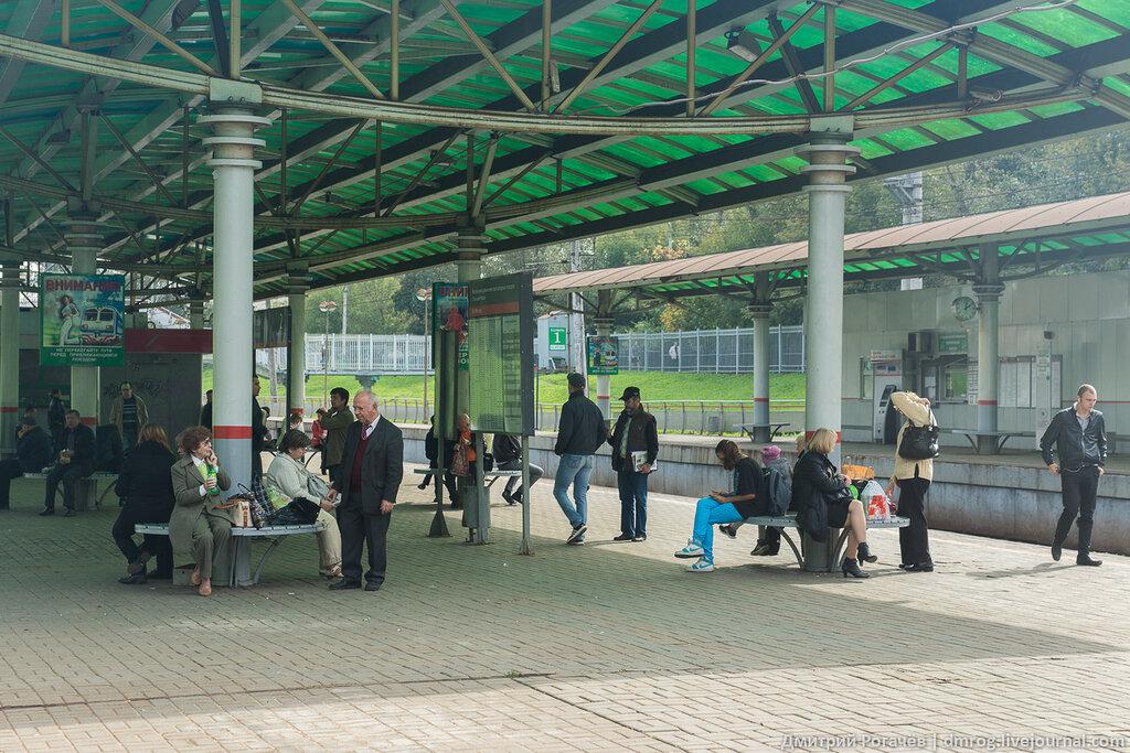 Платформа станции Фили по направлению на Москву