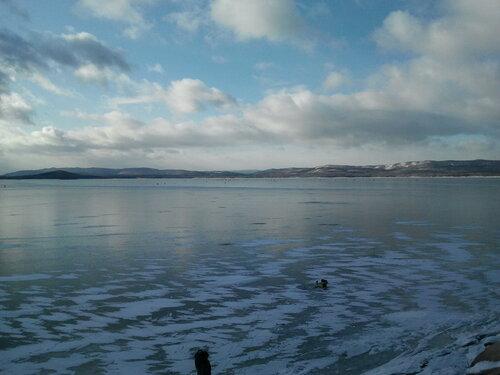 Вид наАргазинское водохранилище. Ноябрь