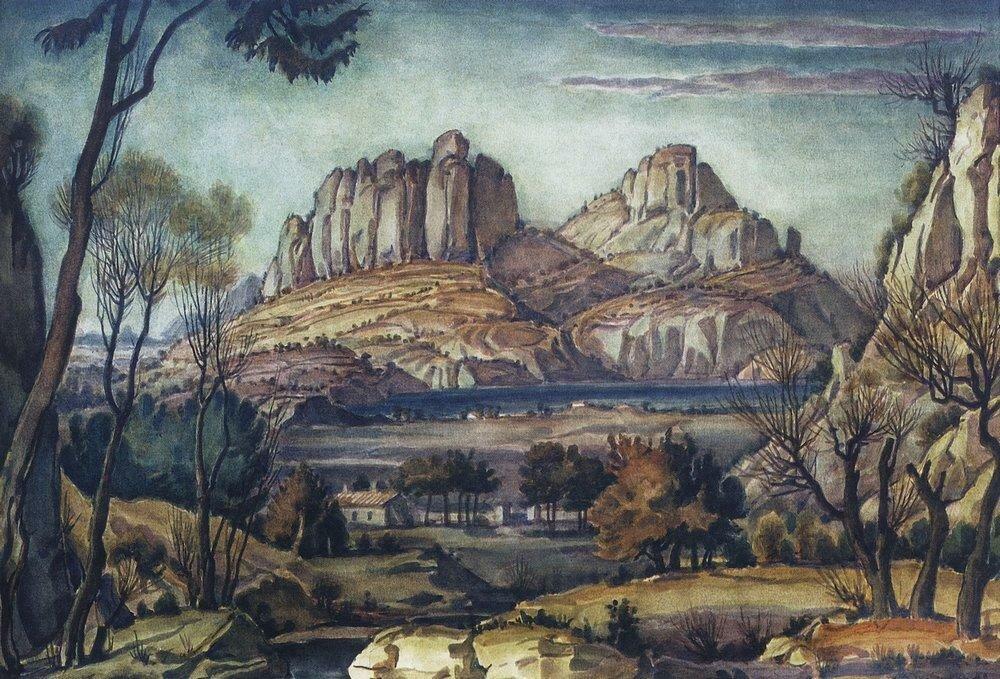 Романтический пейзаж (Крымский пейзаж). 1942.jpg