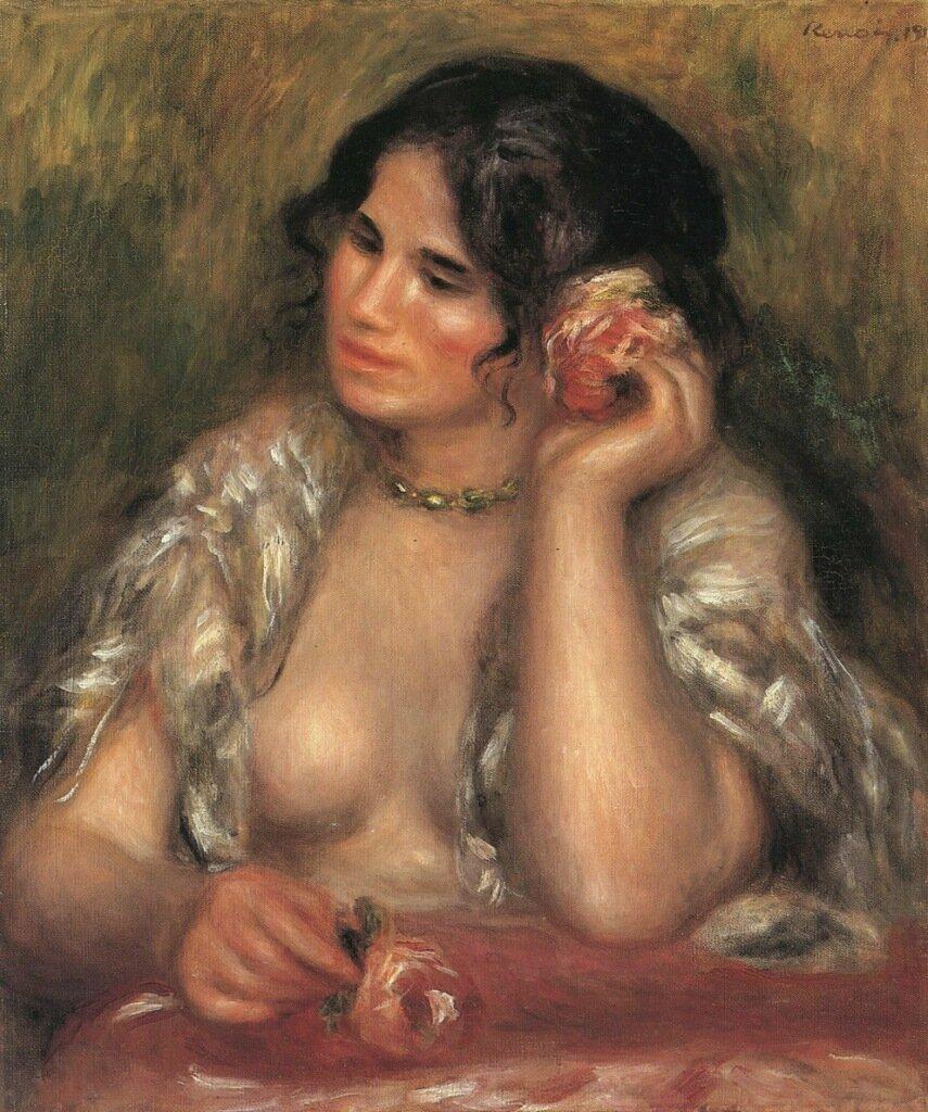Gabrielle with a Rose, 1911.jpg