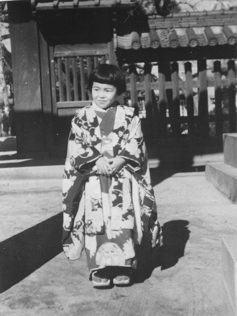 Girl on New Years Day, 1946