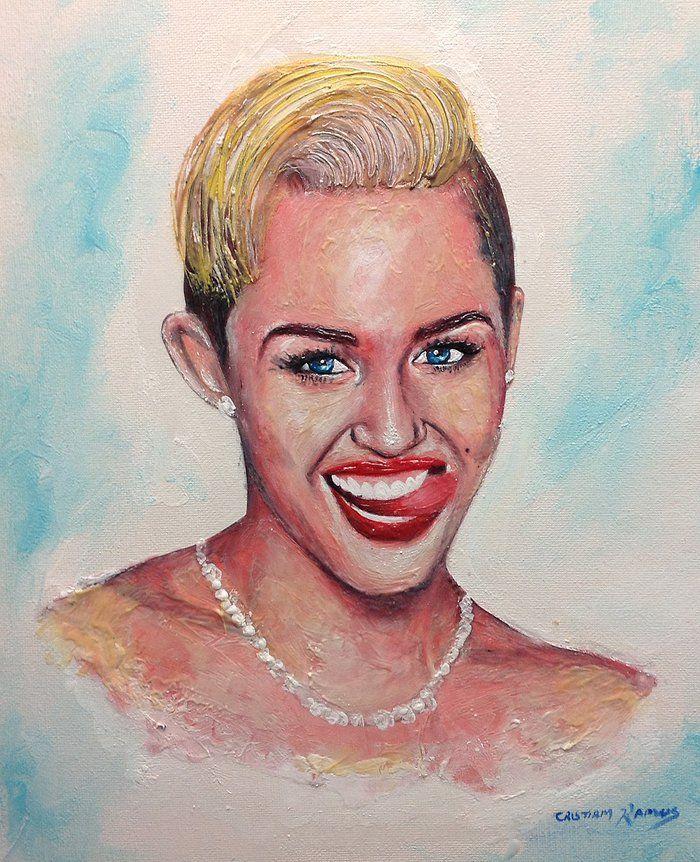 Портреты звезд, написанные зубной пастой