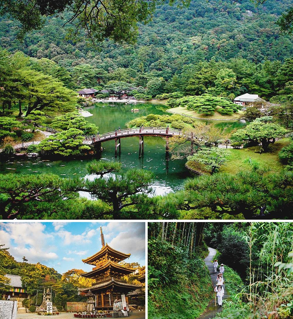 Наострове Сикоку вся прелесть древней Японии сохранилась внетронутом виде. Поэтому ходят подороге