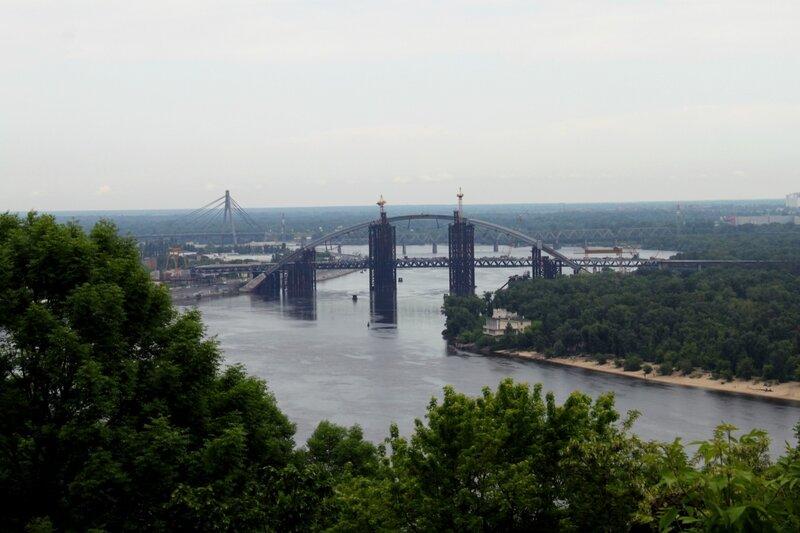 Строительство нового моста через Днепр