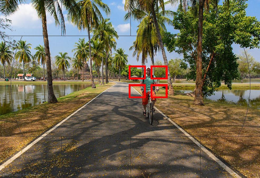 Фотография 6. Автоматический выбор зоны фокусировки