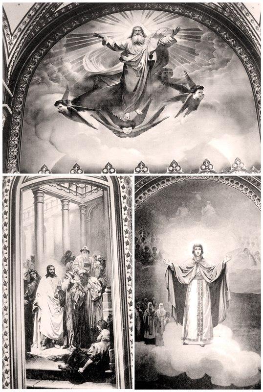 Росписи Вознесенского собора. Фото конца XIX в.