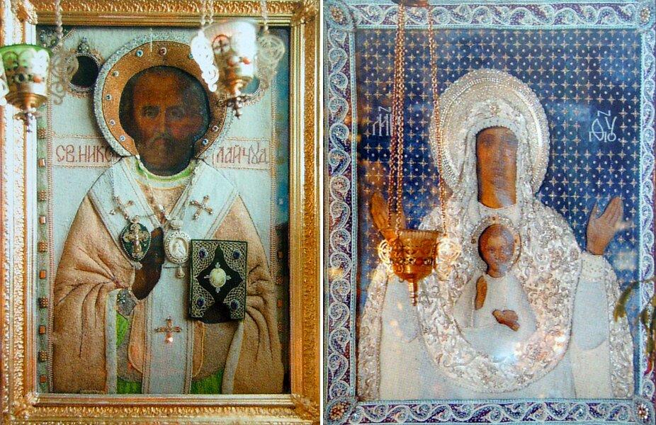 Почитаемые иконы святителя Николая Чудотворца и Божией Матери «Знамение»