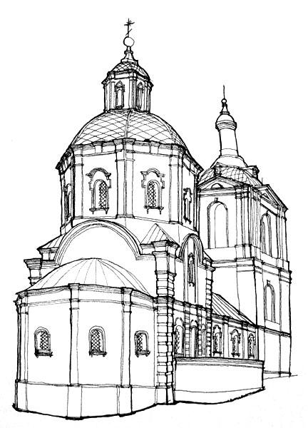 Преображенская церковь Ельца во второй половине XVIII в.