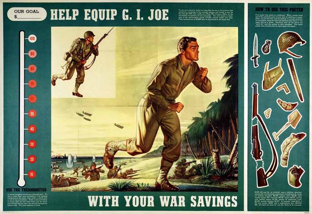 Помоги экипировать рядового Джо, чтобы спасти его от гибели на войне