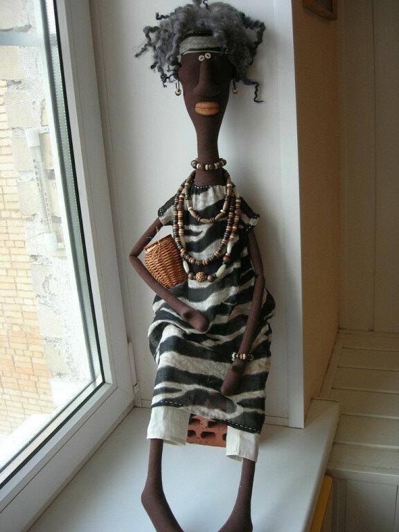 африканец кукла из ткани