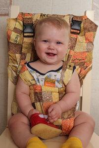 Чехол на стул для ребенка тканевый Гусленок Рыжая осень