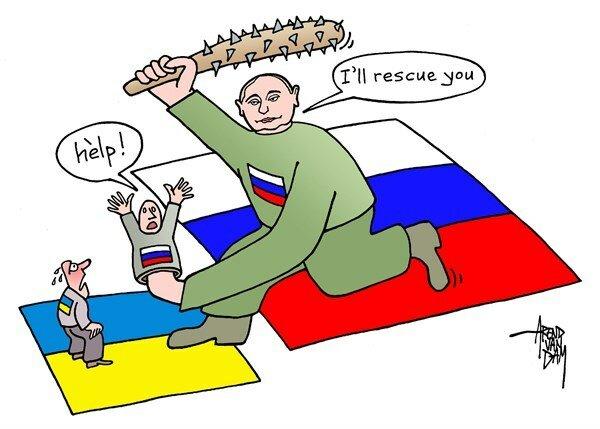 Putin rescuer © Arend van Dam