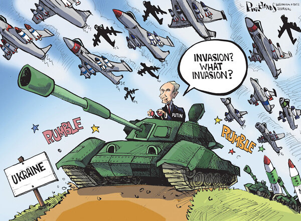 What invasion? — Wisconsin State Journal, March 8, 2014 © Phil Hands