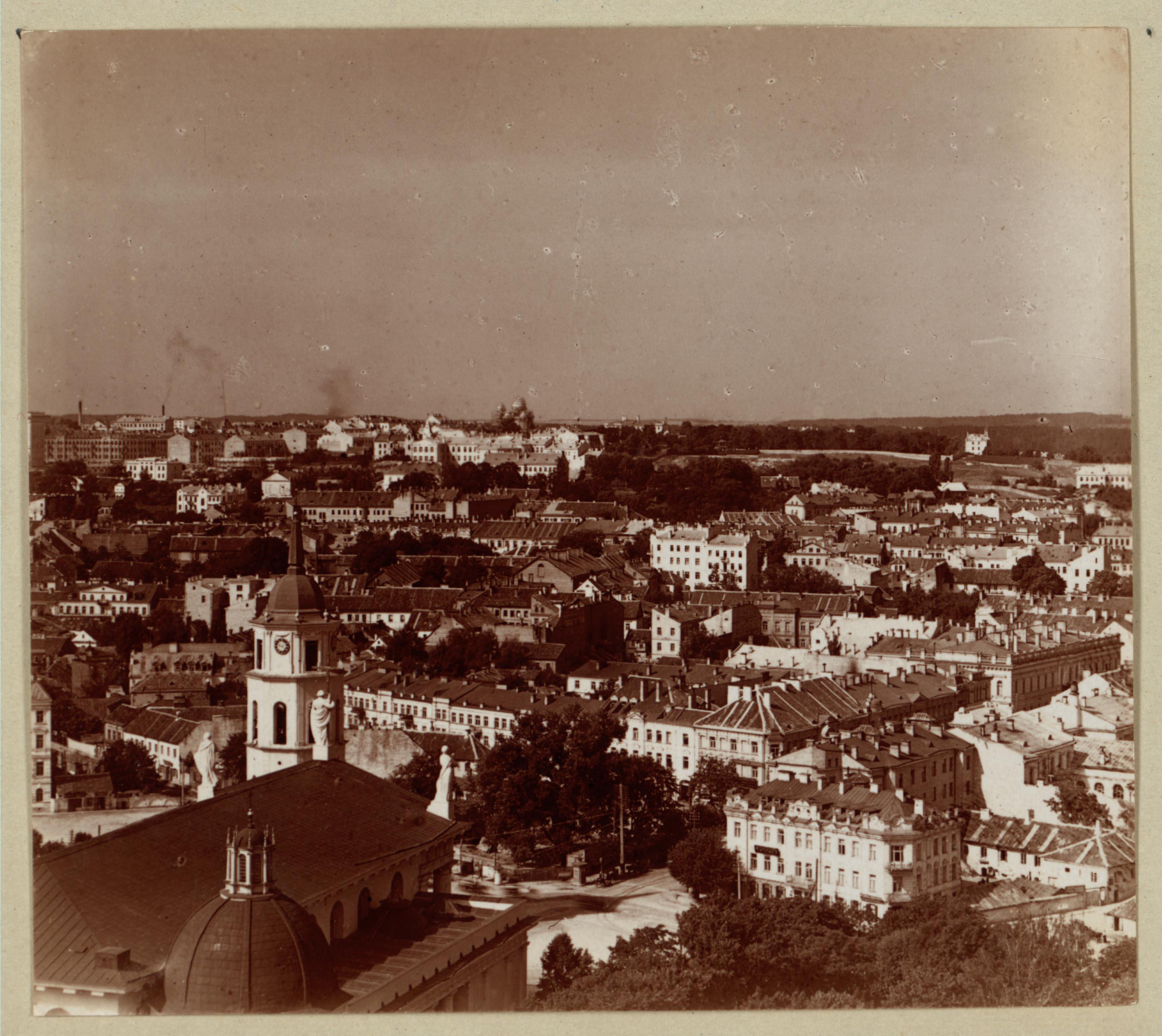 Общий вид с северо-востока с Замковой горы. 1912