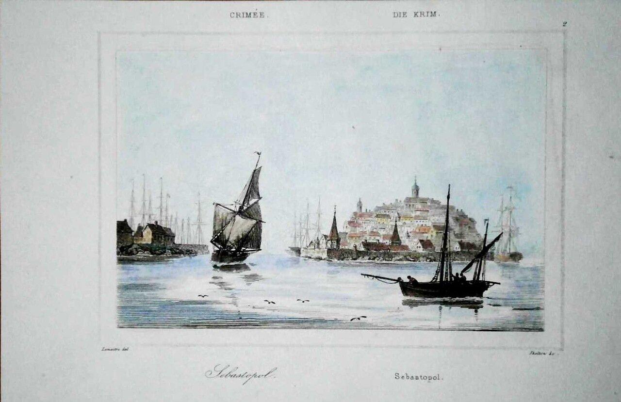 Вид Севастопорля. 1838